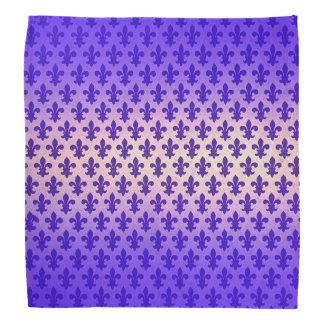 Fleur de lis för vintagelutningblått mönster bandana