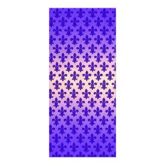 Fleur de lis för vintagelutningblått mönster reklamkort