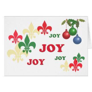 Fleur de Lis Glädje Julhälsningar Hälsningskort