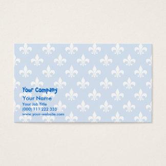 Fleur-de-lis på blått visitkort