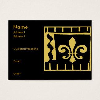 Fleur De Lis Svärta och guld belägger med tegel Visitkort