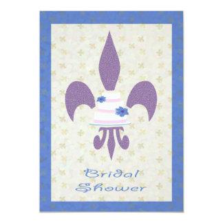 Fleur de Lys bröllopstårtainbjudningskort för 12,7 X 17,8 Cm Inbjudningskort