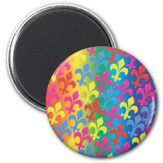 Fleur De oavkortade Lis Magnet