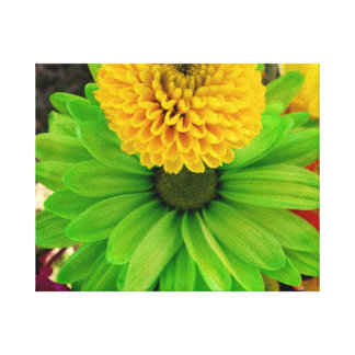 Fleur Verte Sträckta Kanvas Tryck