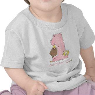 Flicka 1st födelsedag tee shirt
