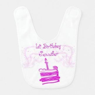 Flicka 1st haklapp för födelsedagbaby