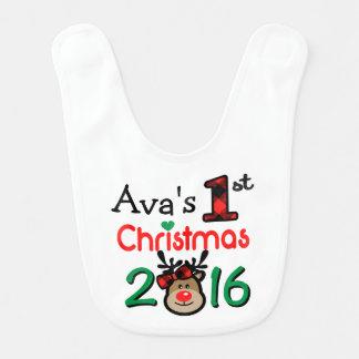 Flicka 1st haklapp för jul för julaftonren hakklapp