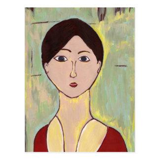 Flicka ansikte efter Matisse Vykort