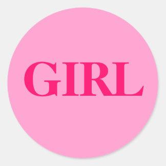 Flicka - babygender avslöjer runt klistermärke