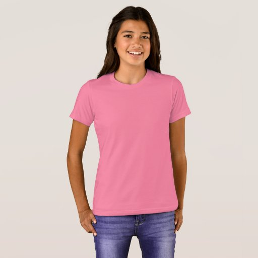 Flick Bella+Canvas Crew T-Shirt, Neon Rosa