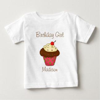 Flicka för födelsedag för muffin för t-shirts