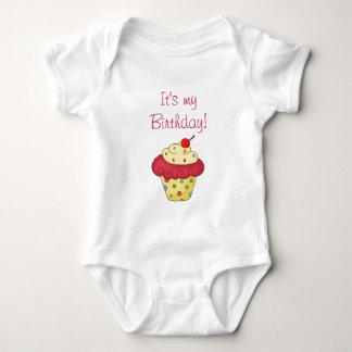 Flicka för födelsedag för muffin för tshirts