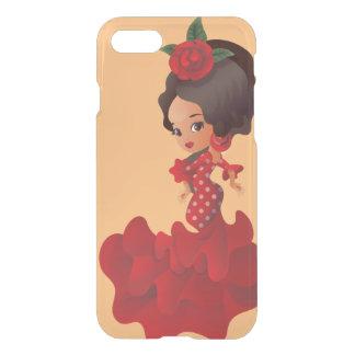 Flicka för kawaii för flamencotecknadchibi iPhone 7 skal
