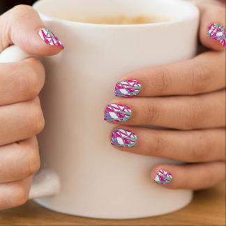 flicka för medley för stänk för vintage för klistermärken för naglar