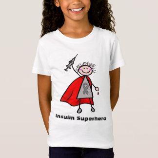Flicka för sockersjukaInsulinSuperhero T-shirt