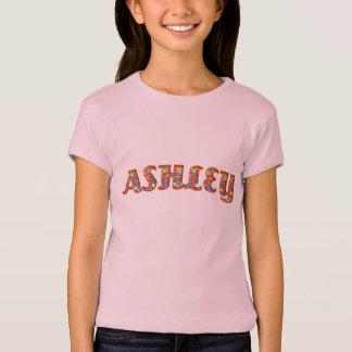 Flicka för typografi Ashley för gulliga T-shirt