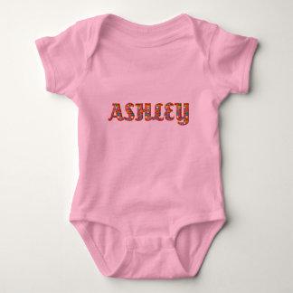 Flicka för typografi Ashley för gulliga Tee Shirts