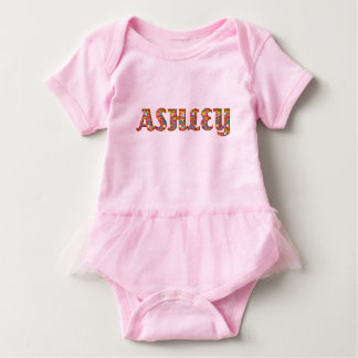 Flicka för typografi Ashley för gulliga Tshirts