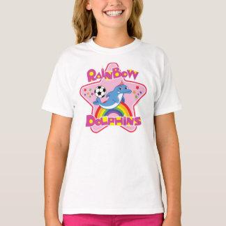 Flicka grundläggande Hanes Tagless T-tröja T-shirts