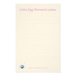 Flicka handstilpapper brevpapper