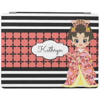 Flicka i mönster för Kimono w/Modern iPad Skydd