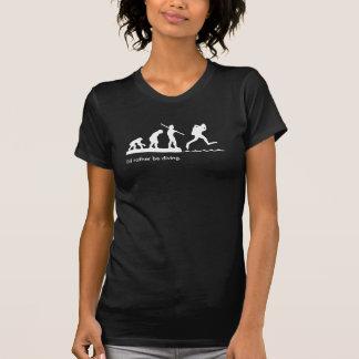 """Flicka """"jag skulle dyker ganska"""" dykaT-tröja T-shirts"""