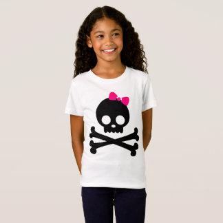Flicka Jersey för vit för Punkyskalle T-tröja Tee Shirt