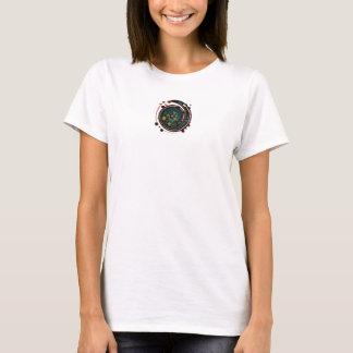 Flicka-/kvinnautslagsplatsvit/mång- T Shirt