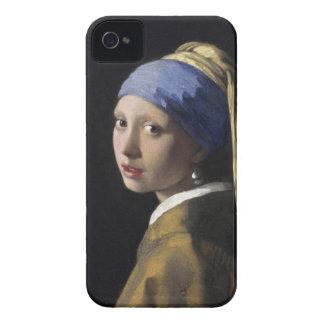 Flicka med ett pärlemorfärg örhänge iPhone 4 Case-Mate fodraler