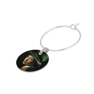 Flicka med Shamrockörhänget - st patrick's day Berlock Vinglas