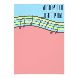 Flicka musikaliska födelsedaginbjudningar anpassade inbjudningskort
