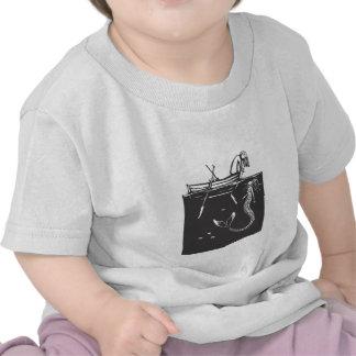 Flicka och sjöjungfru tee shirts