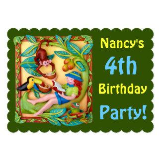 Flicka party för klirrSafari 12,7 X 17,8 Cm Inbjudningskort