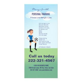 Flicka personlig för fotbollspelare reklamkort