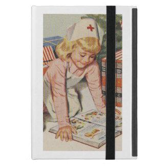 Flicka som leker den Retro sjuksköterskan - iPad Mini Skydd