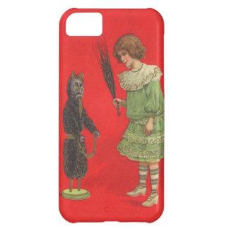 Flicka som leker med den Krampus dockan iPhone 5C Fodral