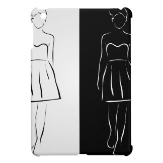 Flicka som poserar i trendig dräkt iPad mini fodral