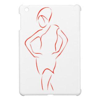 Flicka som poserar i trendig dräkt iPad mini skydd