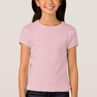 Flicka T-tröja Lavende för sleeve för lock för Tröja