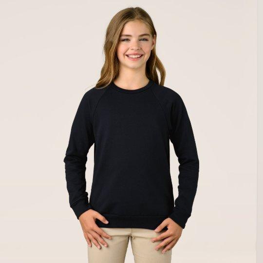 Flick American Apparel Raglan Sweatshirt, Svart