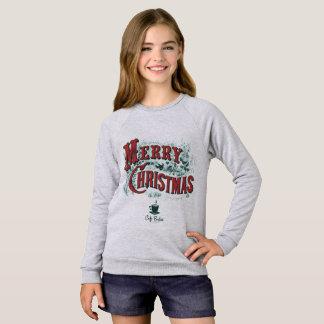 Flicka tröja för Raglan för CaféBoston julafton