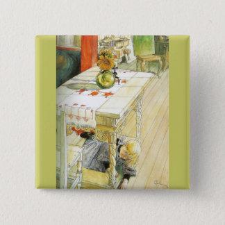 Flicka under ett köksbord standard kanpp fyrkantig 5.1 cm
