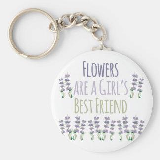 Flickabästa vän rund nyckelring