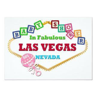 Flickadusch i pladder för Las Vegas kortrosor 12,7 X 17,8 Cm Inbjudningskort