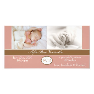 Flickafödelsemeddelande Fotokort