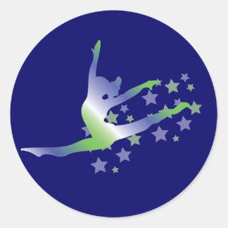 Flickagymnastikklistermärkear Runt Klistermärke