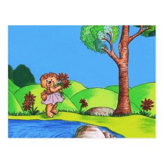 Flickaktigt björn vykort