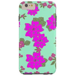Flickaktigt blommönster för polka dots för tough iPhone 6 plus skal