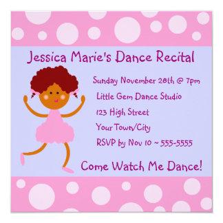 Flickaktigt bubblar rosan danshögläsningen fyrkantigt 13,3 cm inbjudningskort