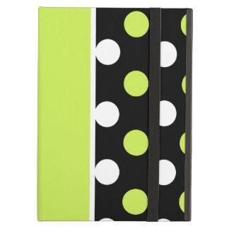 Flickaktigt damast och polkaen pricker mönster iPad air fodral